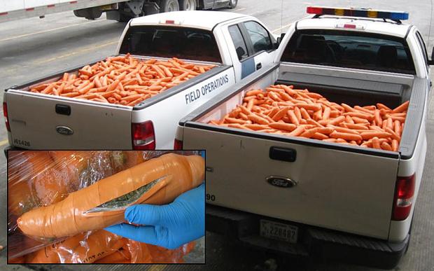 weed fake carrots