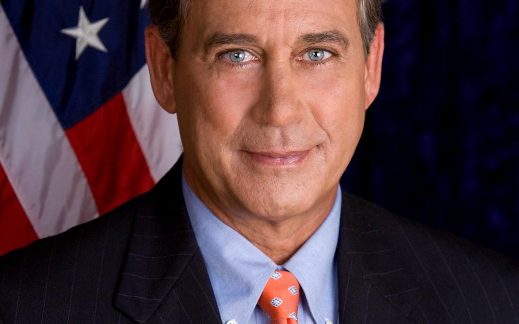 Boehner endorsed Ohio Gov. John Kasich