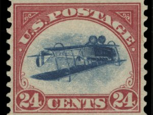 Stolen inverted Jenny stamp