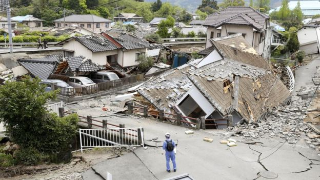 Nearly 200,000 homes are without electricity, Japanese media reported, and drinking water systems have failed in many areas