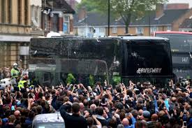 Manchester United bus attacked