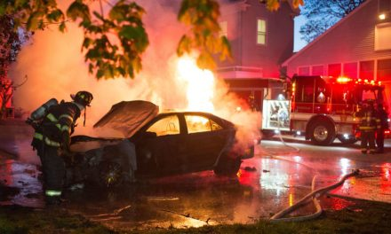Tufts bomb threat:   Police Investigating Car Fire