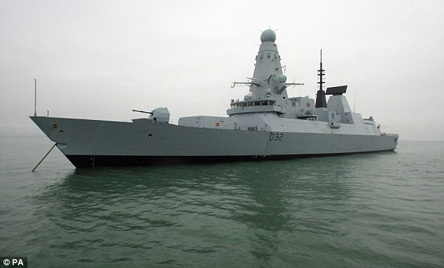 British warships sea too hot
