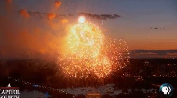 PBS fireworks:  Network Airs Stock Fireworks Footage