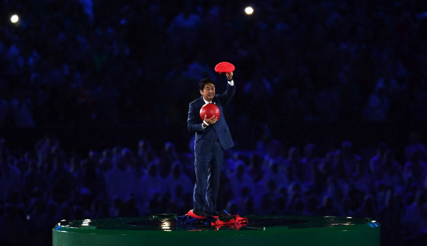 shinzo abe super mario:  Japan's PM Has Best Entrance Ever