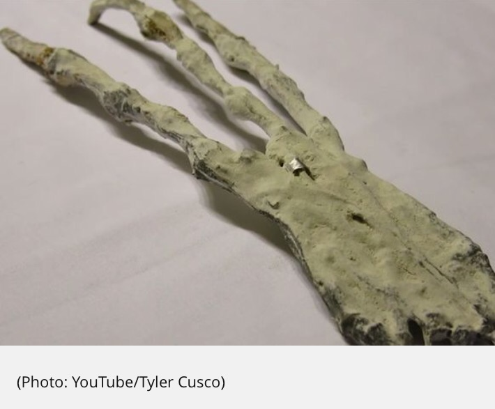 Massive alien claw and warped skull discovered in Tunnels below Peru Desert