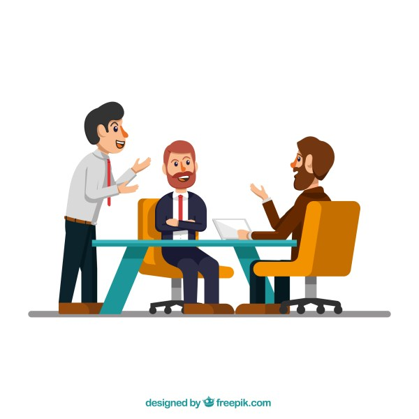 Business People Meeting Clip Art