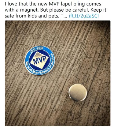 I love that the new MVP label bling comes with a magnet. Bug please be careful. Keep it safe from kids and pets.