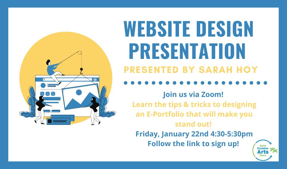 Website Design Presentation January 22nd 4:30-5:30