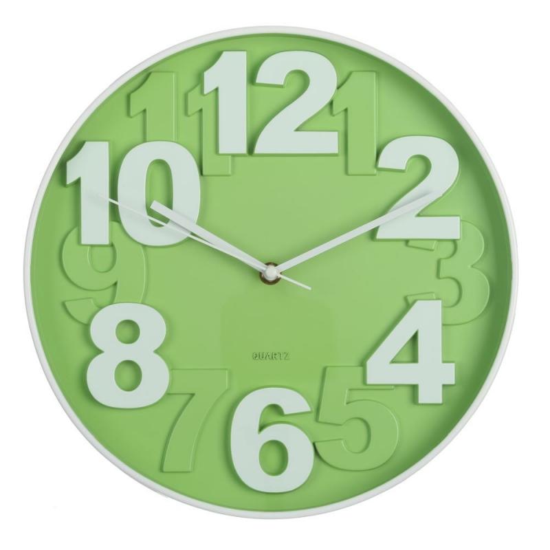 Reloj de pared moderno verde de plstico para cocina Bretaa dcasaes