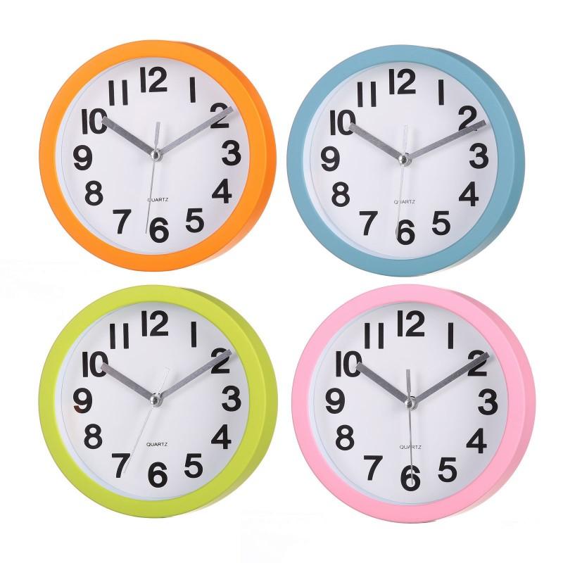 Reloj pared moderno liso plstico 15cm ideal para cocina