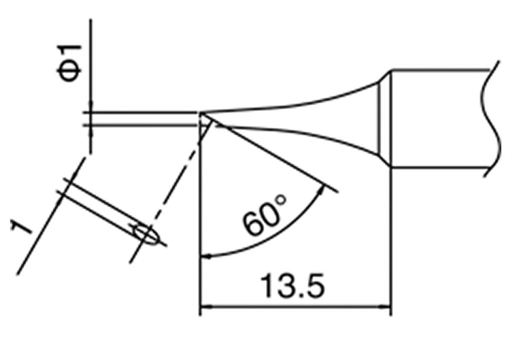 T-1C Tip (for DCS-SA50, ST60, ST80 & AT937)