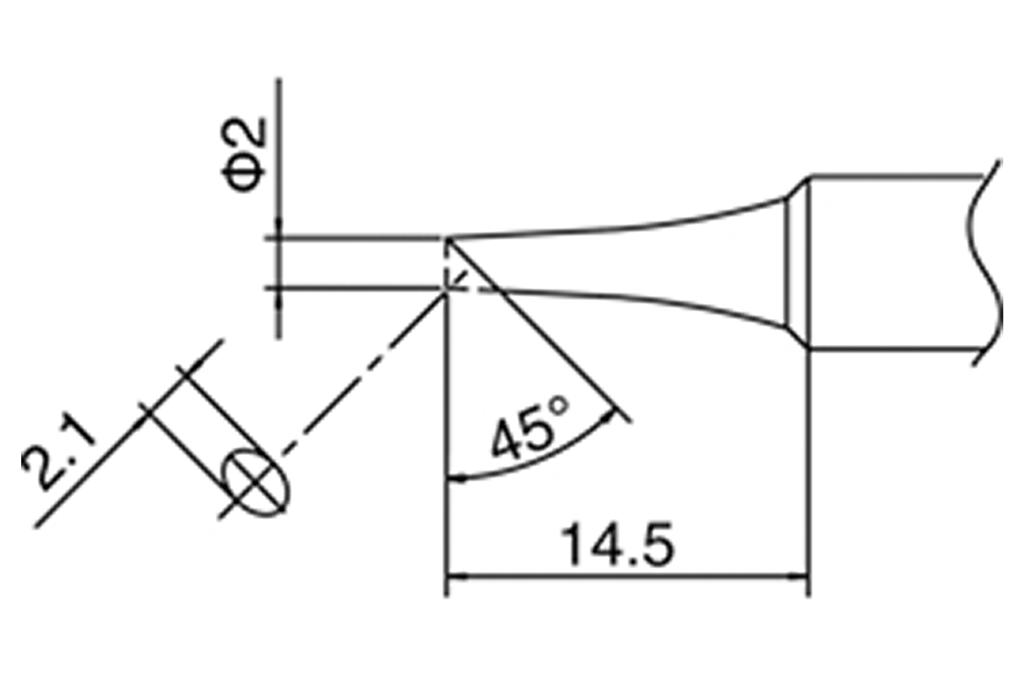T-2C Tip (for DCS-SA50, ST60, ST80 & AT937)