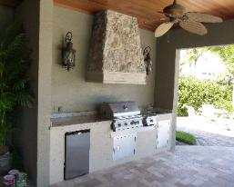 island tables for kitchen mission cabinets outdoor kitchens summer florida concrete ...