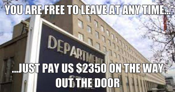 $2350 expatriation fee