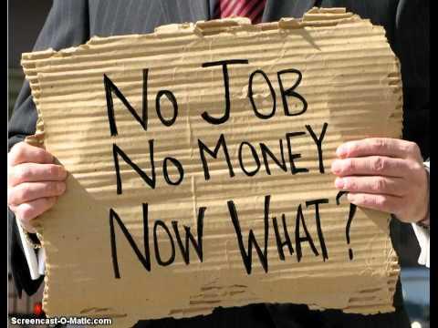 no job no money now what