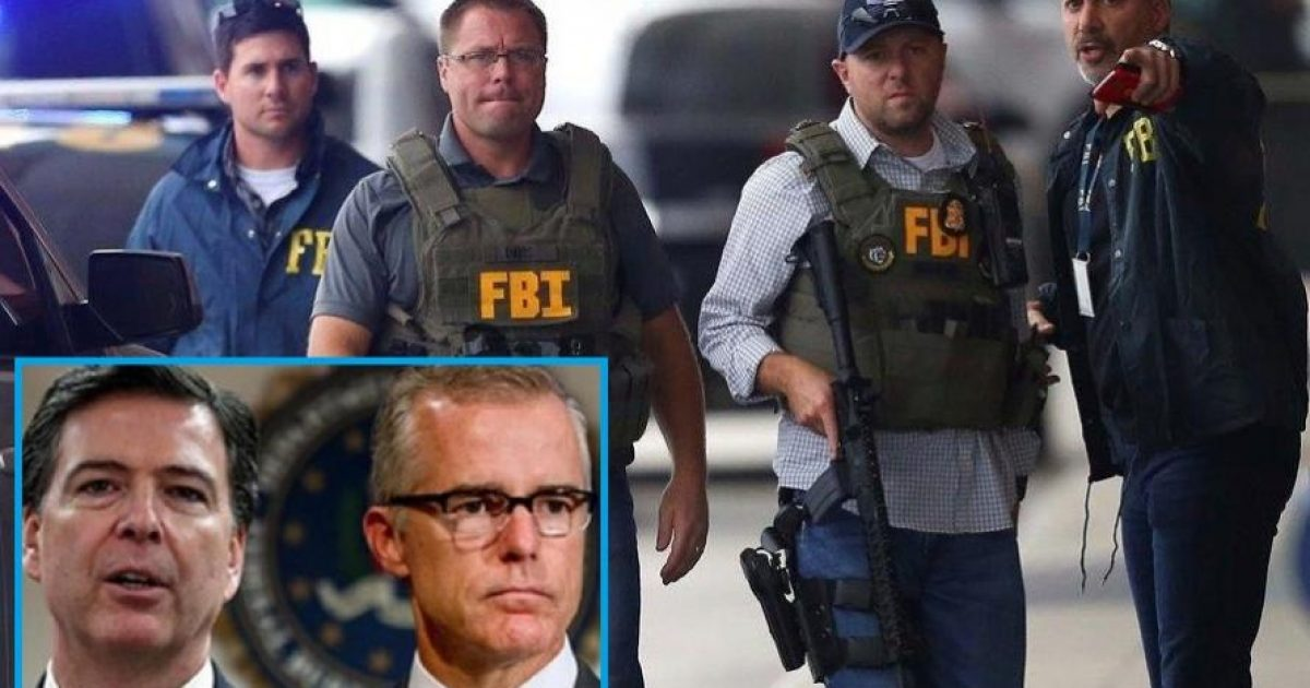 """Sickened"" FBI Agents Ready To ""Come Forward And Testify"" Against Comey & McCabe"