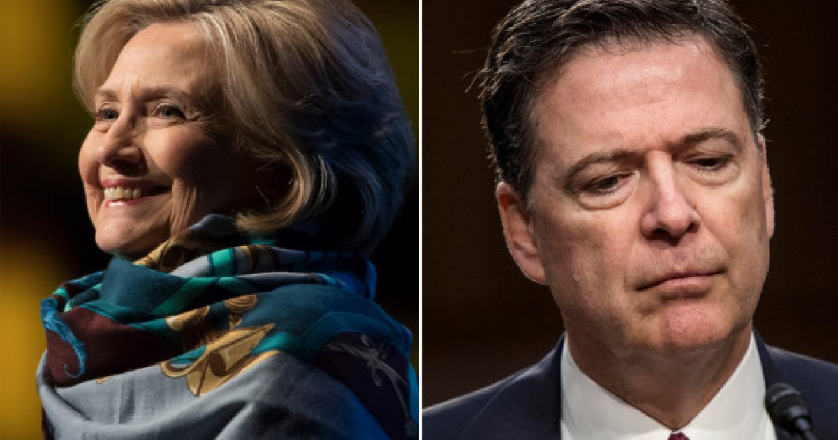 "After Being Caught Red-Handed, Comey Fires Back at Hillary: ""even at this late date she doesn't understand what the investigation in her case was about"""