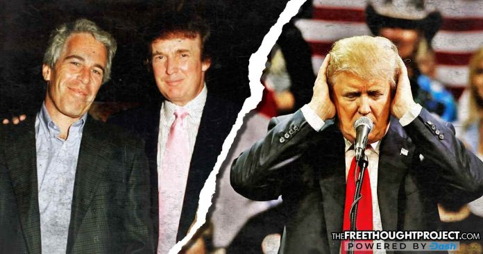Trump Melts Down as Man Holds Up Photo of Him and Billionaire Pedophile Epstein at Rally