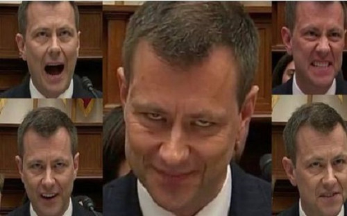 FBI agent Peter Strzok looked possessed; wiggles like a snake like Hillary Clinton