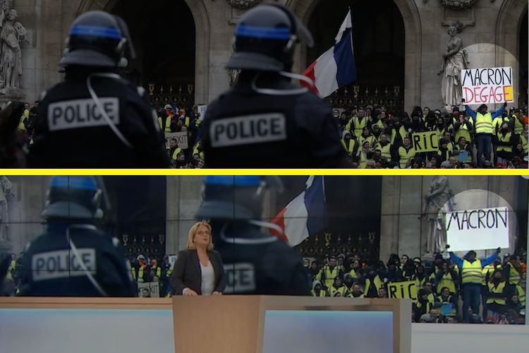 French Media Caught Editing Images of Yellow Vest Protesters for TV News