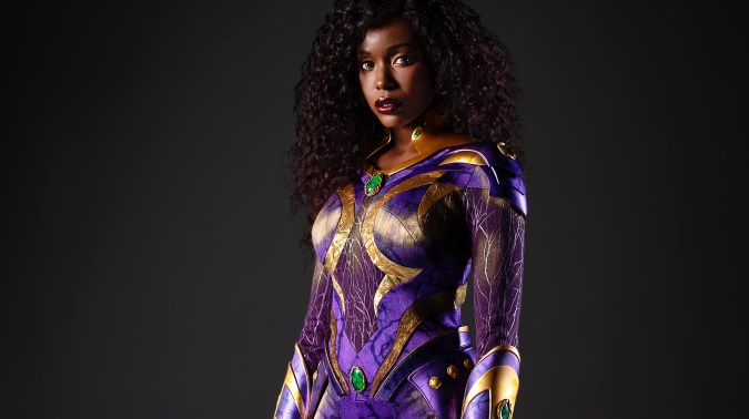 First Look: Anna Diop Suits Up as Titans' Starfire   DC