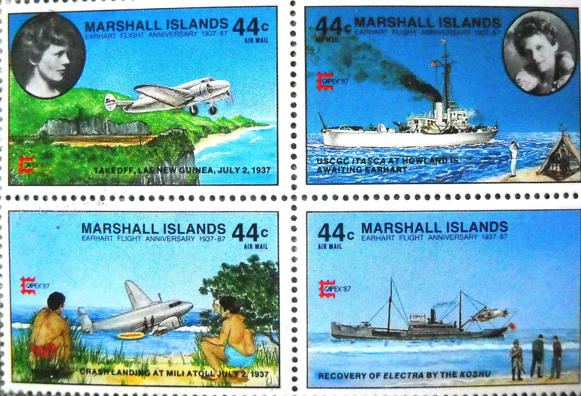 Image result for stamps earhart