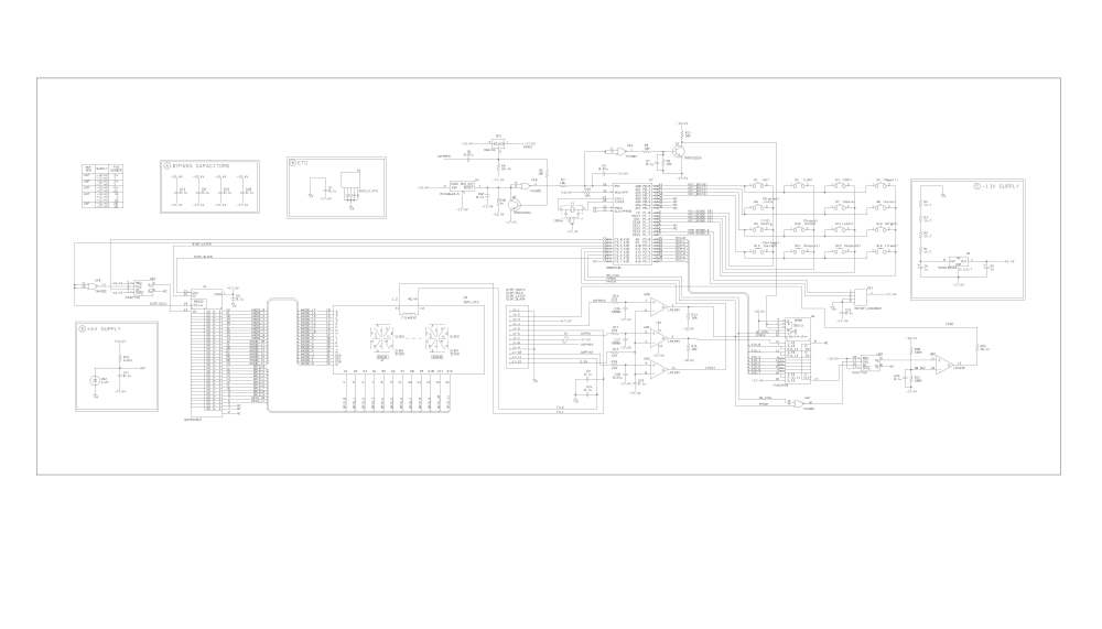 medium resolution of display board schematics extracted from service manual pg