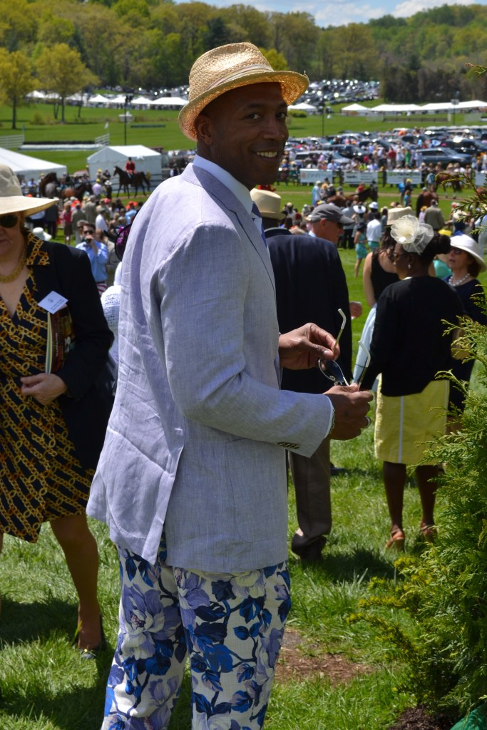 Smiling at the Virginia Gold Cup