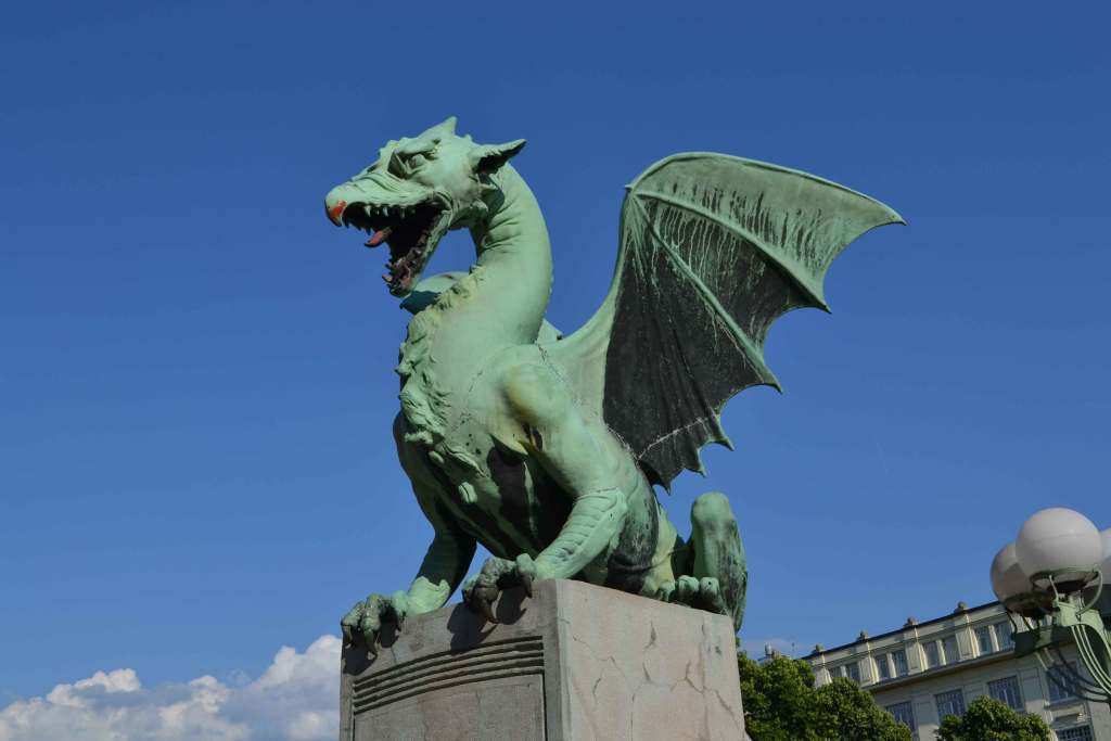 Dragon during six days in Slovenia