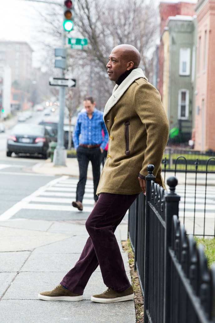 DCFashion Fool taking a moment to relax in his Gant Spectator coat
