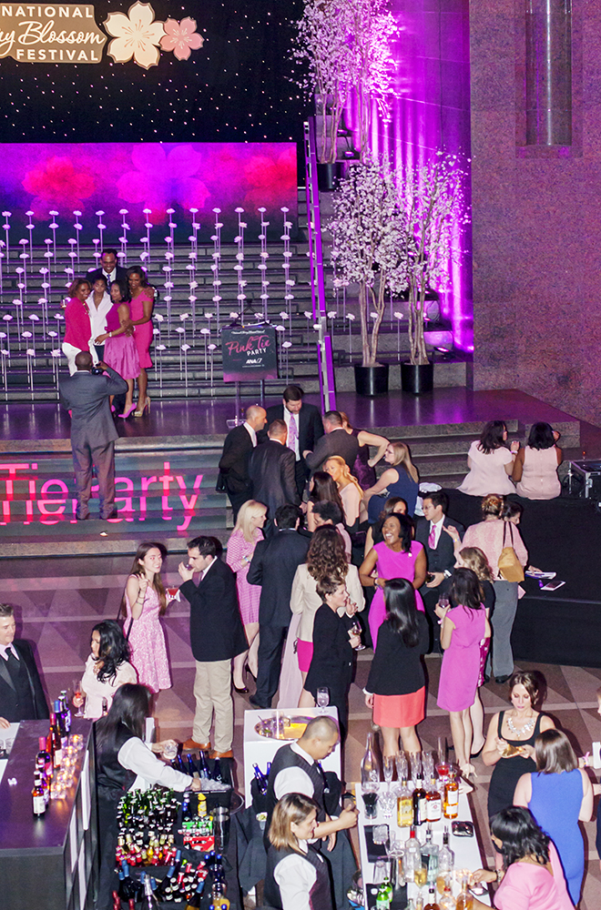Pink Tie Party Crowd