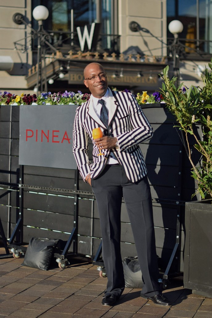 DC Mens Fashion; DCFashion Fool; Veuve Clicquot, ClicquotJourney, DC Events; PineaDC, W Hotel, Striped Blazer