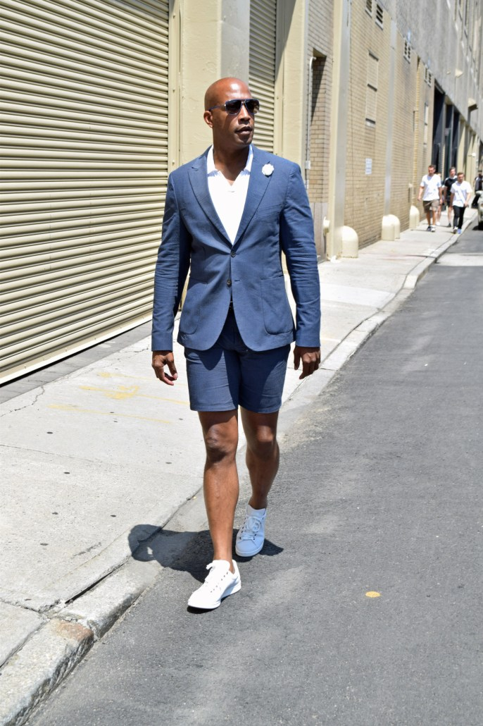 Frank and Oak suit with shorts
