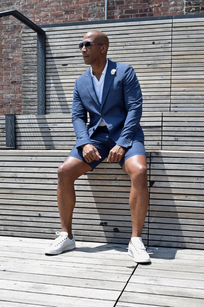 NYFWM suit with shorts -2