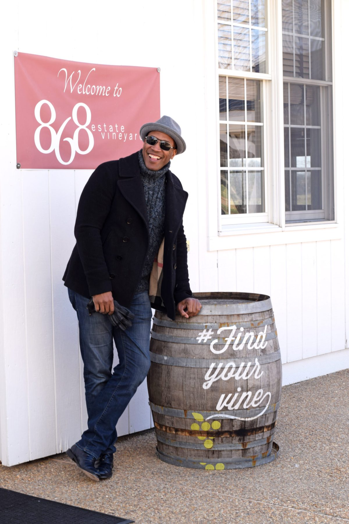 Classic style in wine country - smiling at 868 winery