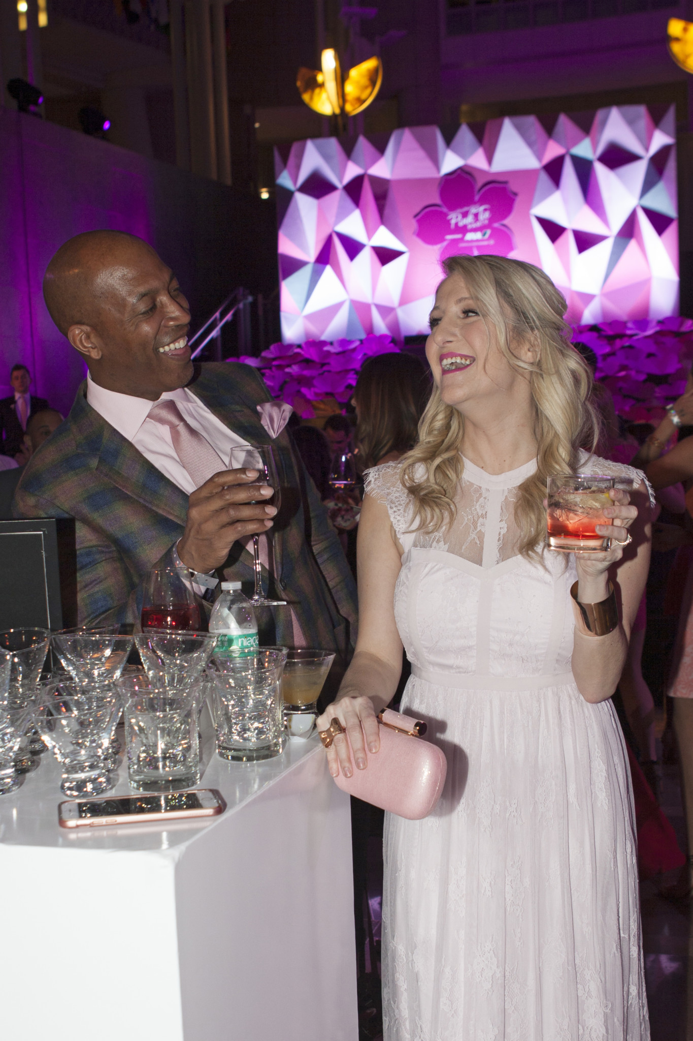 Cherry Blossom Pink Tie Party with A Lacey Perspective