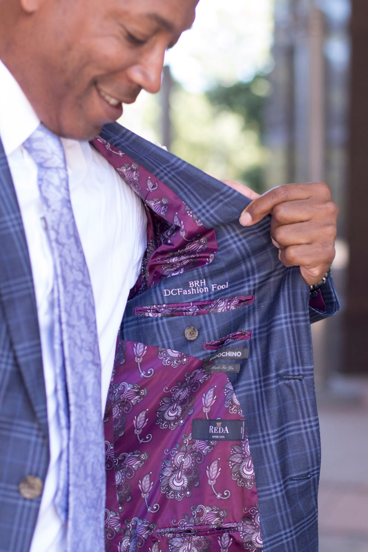 Details of Indochino lining