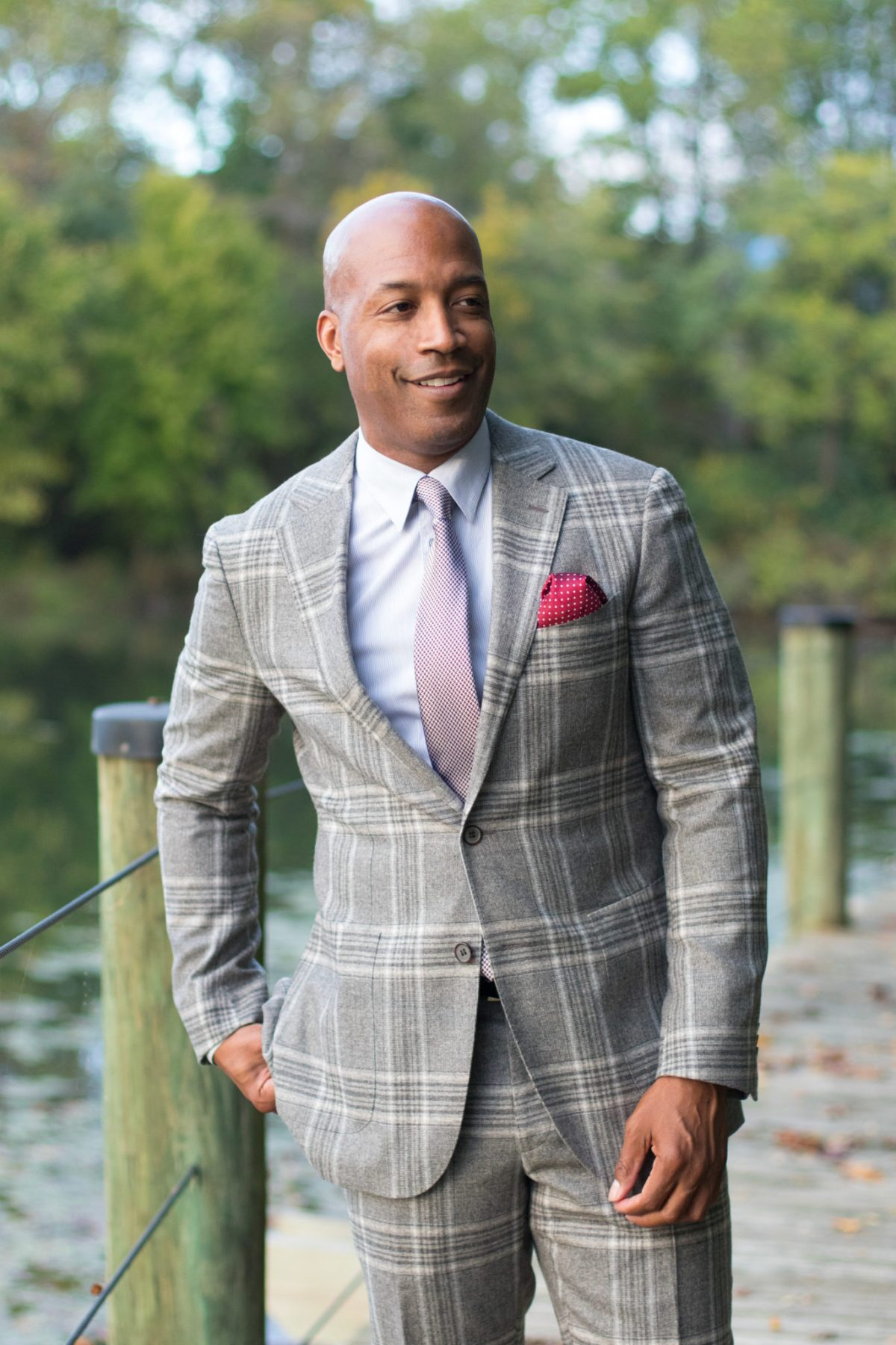 Plaid suit for fall
