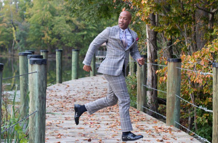 A bold plaid suit