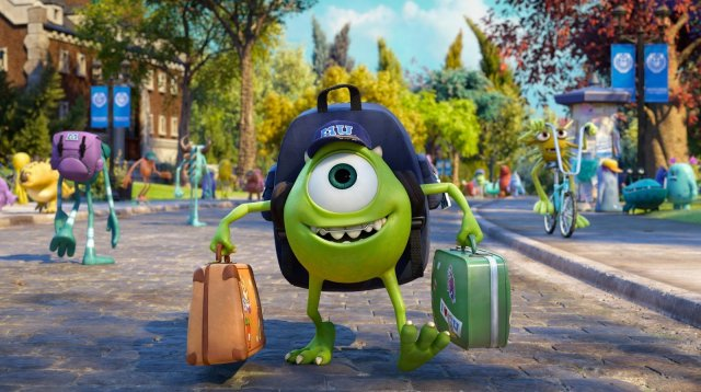 Image result for monsters inc mike starts college