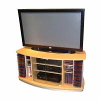 Beech TV Stand with DVD Racks | DCG Stores