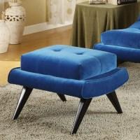 5th Avenue Ottoman in Cerulean Blue Fabric | DCG Stores