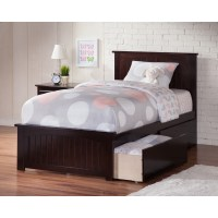 Nantucket Queen Wood Bed - Matching Foot Board, 2 Drawers ...