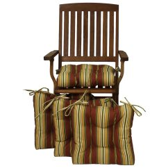 Outdoor Chair Cushions Set Of 4 Antique Cane Dining Room Chairs Square Cushion Tufted Ties Patterned