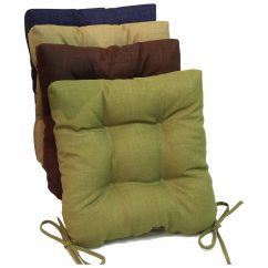 Outdoor Chair Cushions Set Of 4 Multi Seat Folding Chairs Square Cushion Tufted Ties Solid