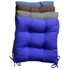 Blue Chair Pads Anime Bean Bag Square Cushion Tufted Ties Twill Set Of 4