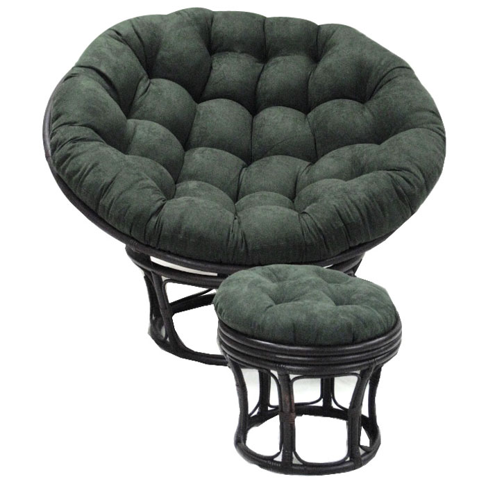 52 Inch Microsuede Tufted Papasan Cushion  DCG Stores