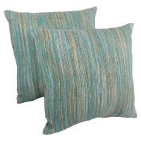 """20"""" Throw Pillows - Aqua Blue and Beige Blue Palette ..."""