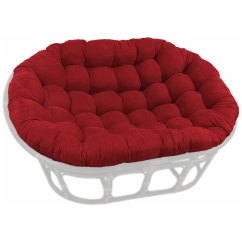 Papa San Chair Antique Styles 78 X 58 Oversized Double Papasan Cushion Tufted Microsuede Blz